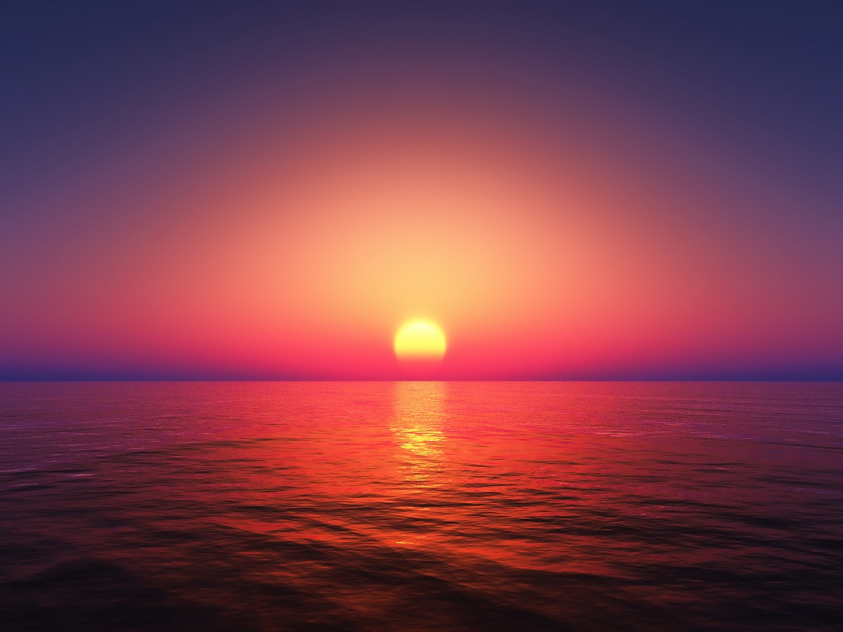 3d Sunset Sea